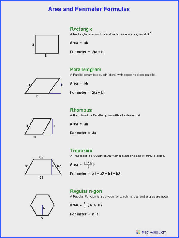 Hexagon Area Worksheets Geometry Worksheets Area And Perimeter