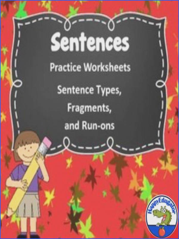 Sentences Grammar Worksheets on Fragments Run ons and Types of Sentences