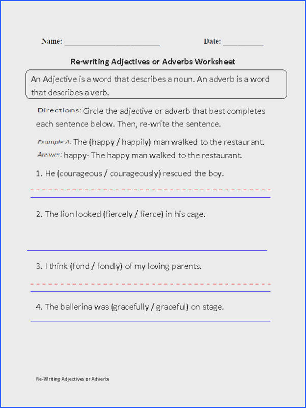 Captivating Sentences With Nouns And Adjectives Worksheets With Additional Adjectives Worksheets of Sentences with Nouns