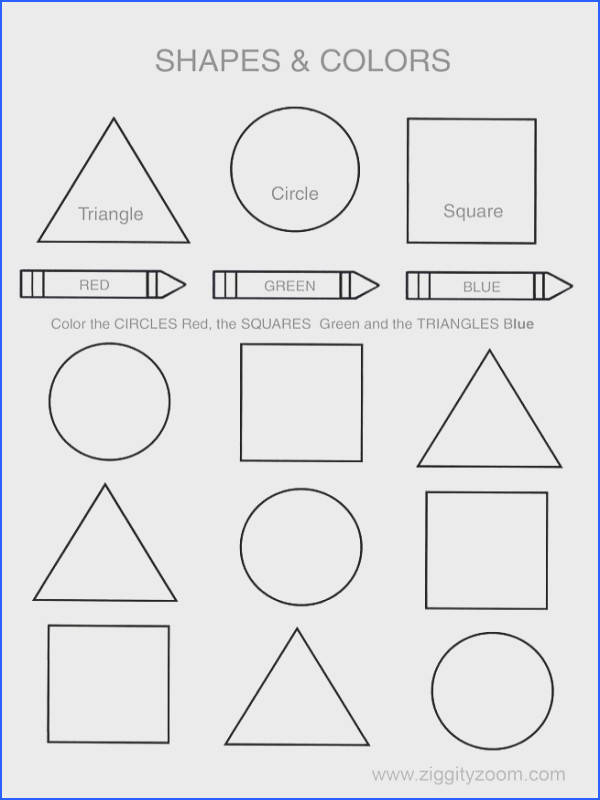 Shapes & Colors Printable Worksheet