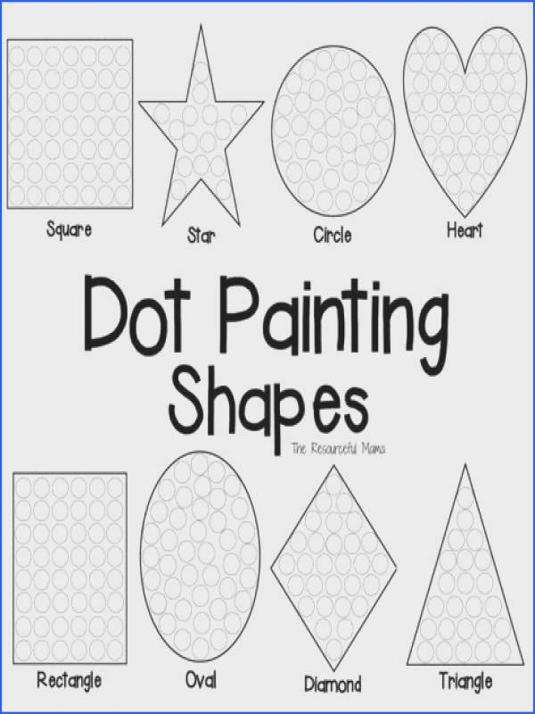 These shapes dot painting worksheets offer kids a fun hands on way to learn their shapes
