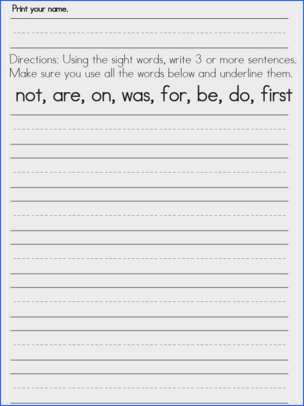 worksheets word Worksheets Sight First for Words sight Grade grade free 1st
