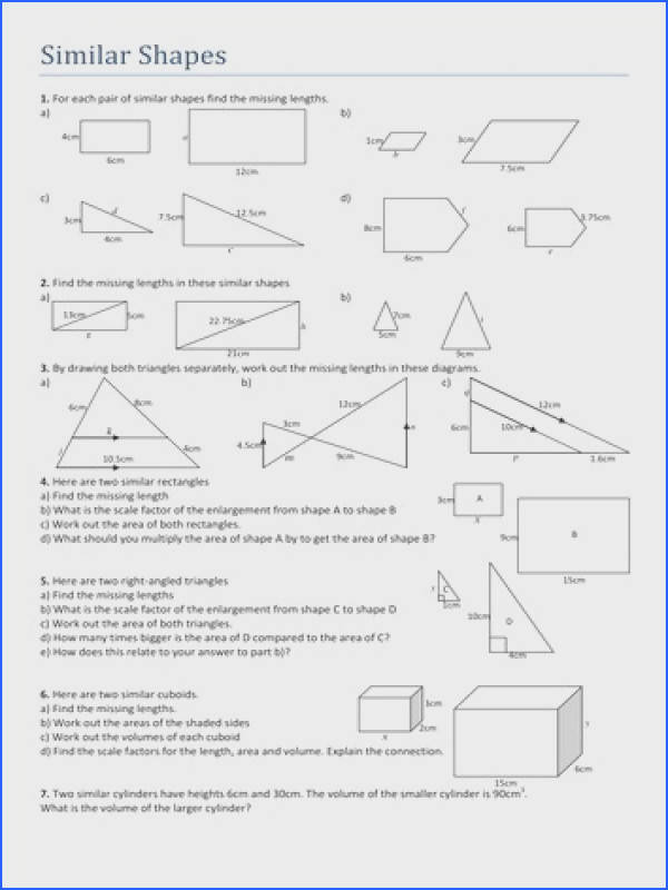 Similar Figures Worksheet with Answers – Careless Image Below Scale Factor Worksheet