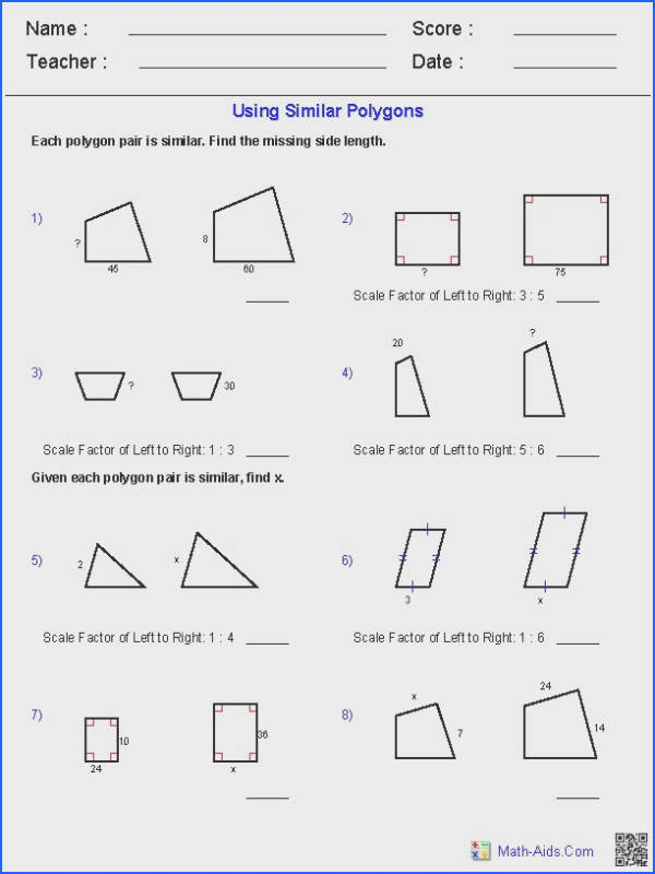 Geometry Worksheets Similar Shapes Worksheet by Tristanjones Teaching Resources Tes similar figures worksheet with answers