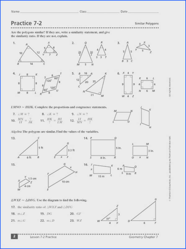 Similar And Congruent Figures Worksheet Free Worksheets Library