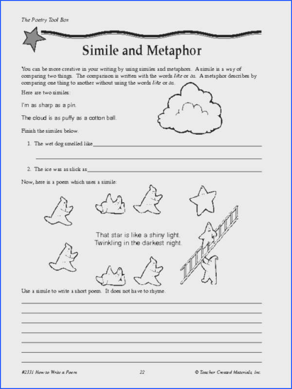 Identifying Similes And Metaphors Worksheet