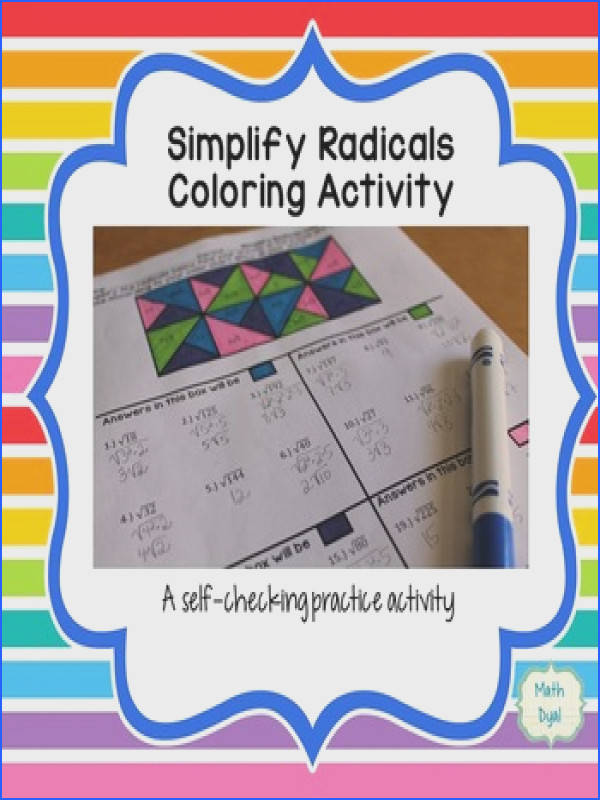 Simplify Radical Expressions Coloring Activity Simplify Radical Expressions Coloring Activity