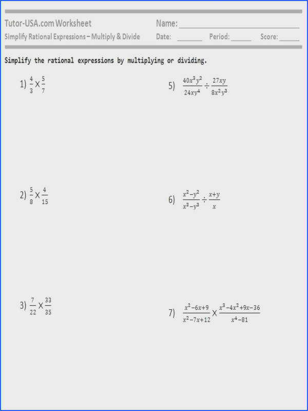 rational expression worksheet 4 multiplying answers careless me