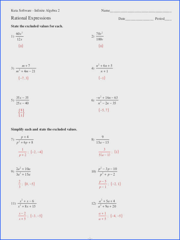 simplifying rational expressions worksheet algebra 2 worksheets for all and share worksheets free on bonlacfoods