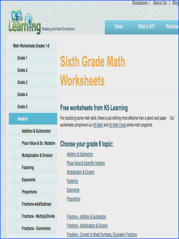 Classy Sixth Grade Math Resources About 6th Grade Math Worksheets Games Problems And More of