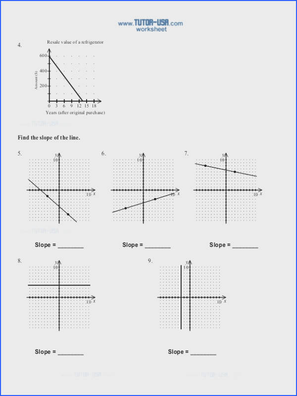 Slope Worksheet & Slope Worksheet Pdf Worksheets for All Image Below Rate Of Change Worksheet