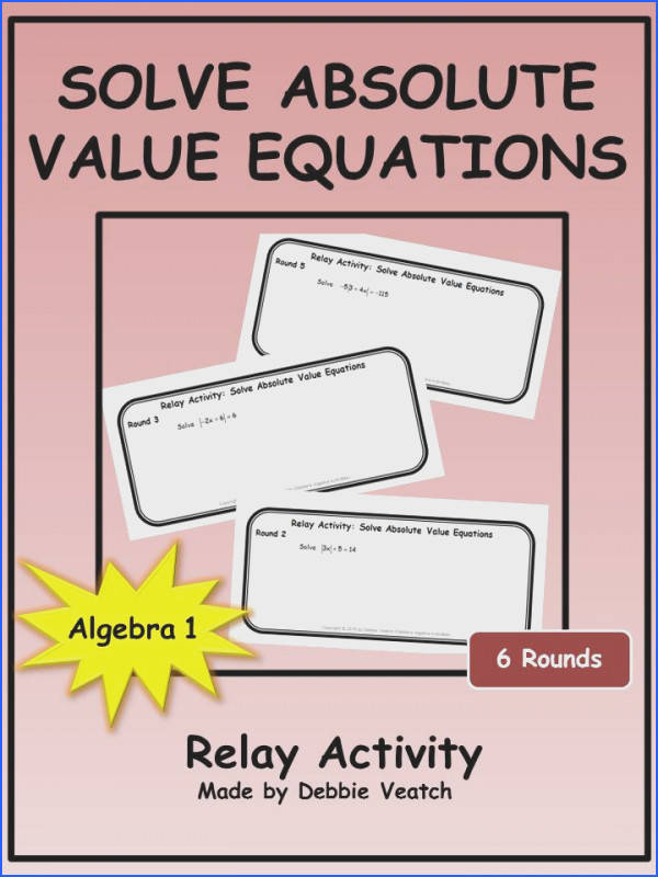 A fun way to practice or review solving absolute value equations