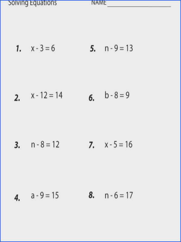 Seventh Grade Solving Equations Worksheet Systems Of Addition 7th Prin A Part: Solving Equations Worksheets At Alzheimers-prions.com