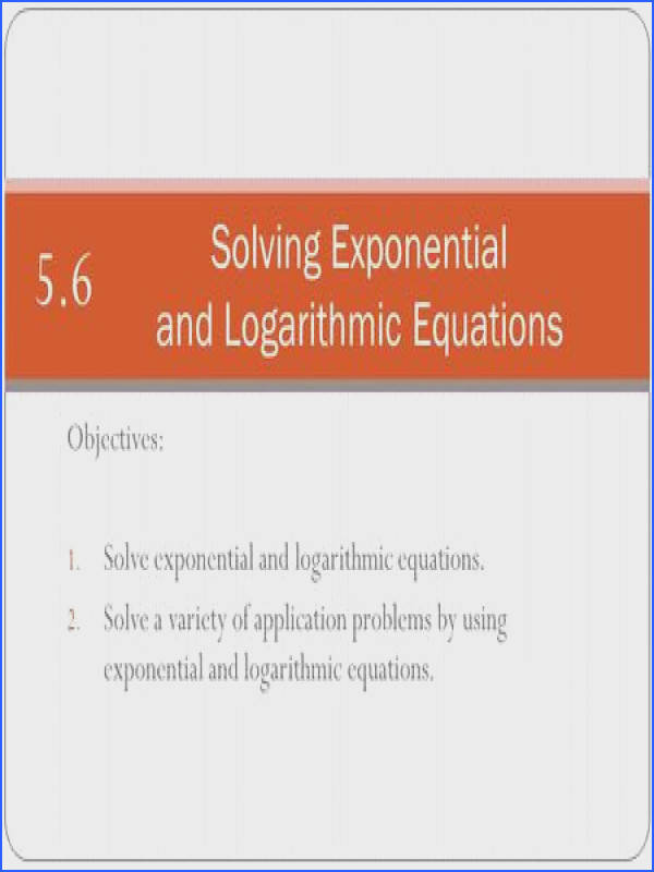 Solving Exponential and Logarithmic Equations Worksheet Inspirational E Xponents and L Ogarithms Ap Calculus Ab Summer