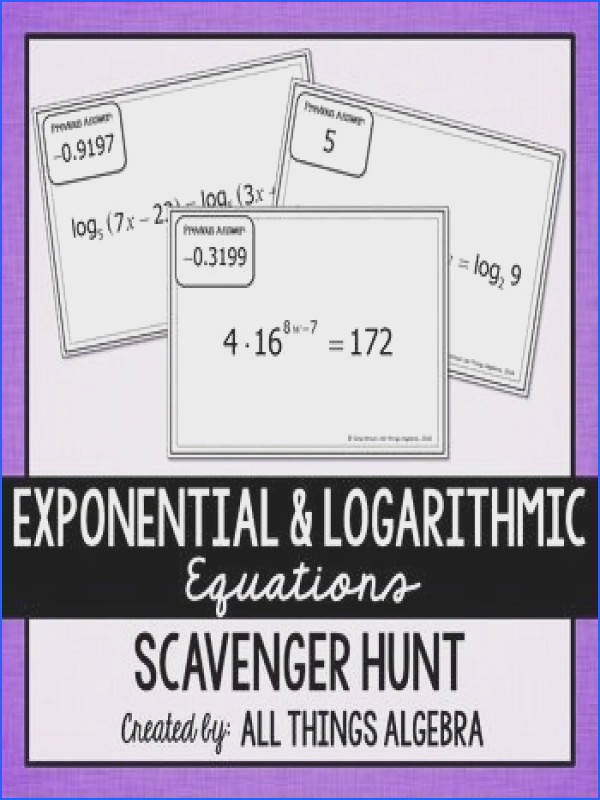 Solving Exponential and Logarithmic Equations Worksheet Unique 1475 Best Math • High School Pinterest