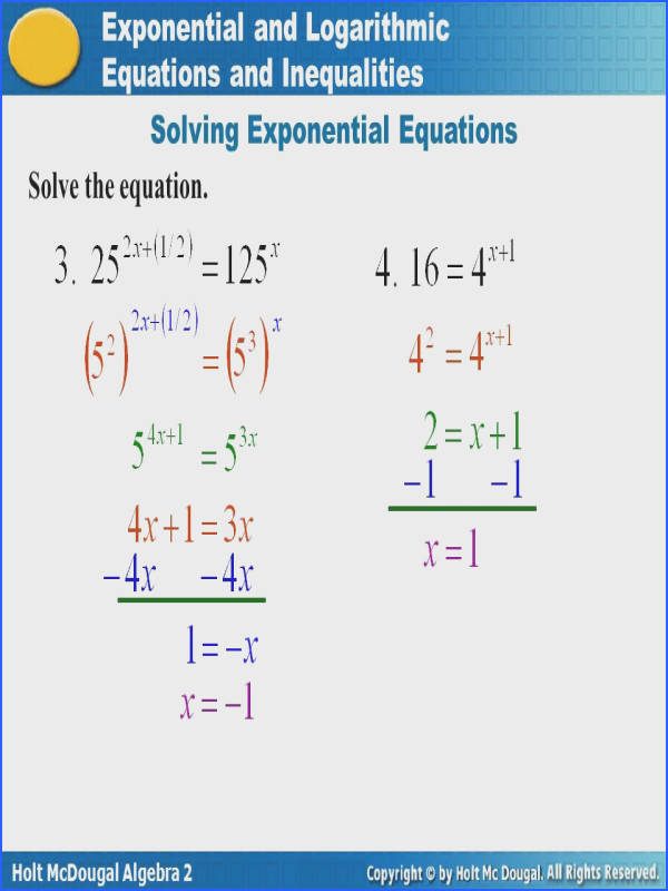 Solving Exponential Equations with Logarithms Worksheet Answers Inspirational Excellent Algebra 2 Inequalities Worksheet Inspiration
