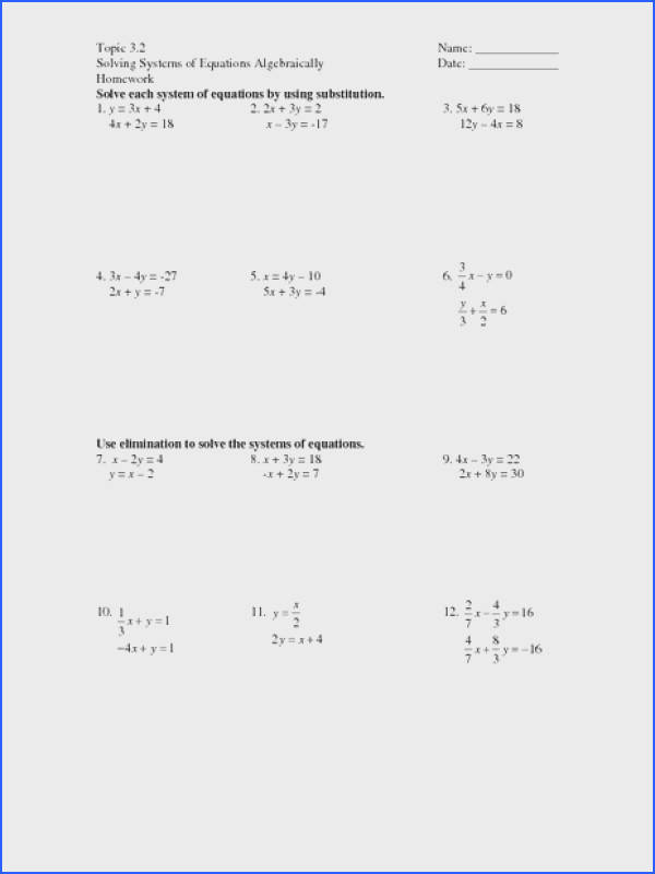 Solving Systems Equations With 3 Variables Worksheet Worksheets for all Download and Worksheets