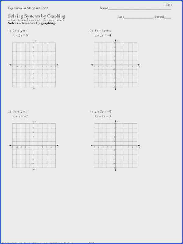 Solving linear equations homework help Solving Systems By Graphing Worksheet