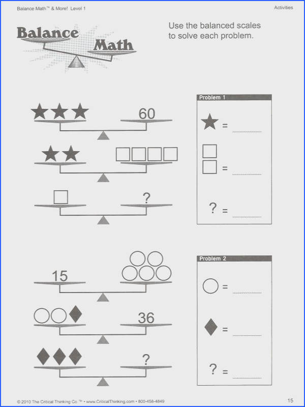 solving two step equations with balancing scales worksheet Google Search