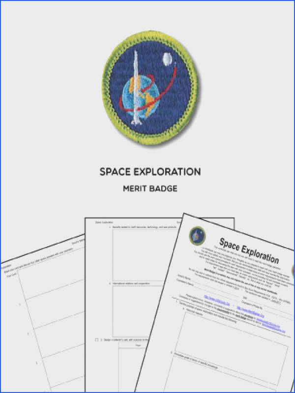 Space Exploration Merit Badge View Here