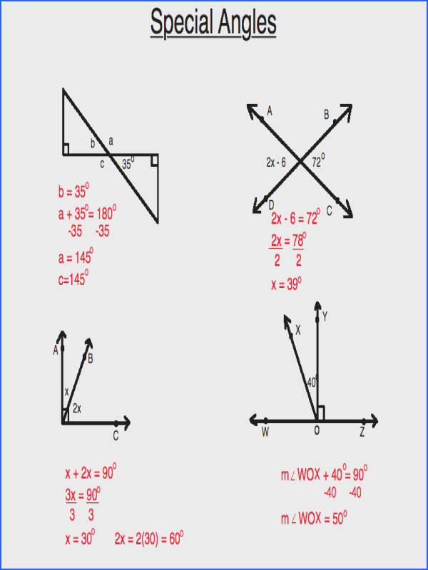 Geometry Videos Video on Special Angles Supplementary plementary