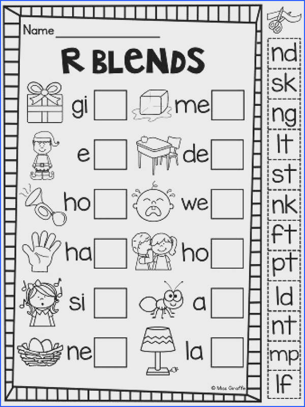 Amusing St Blend Worksheets First Grade In Ending Consonant Blends Worksheets Free Worksheets Library of