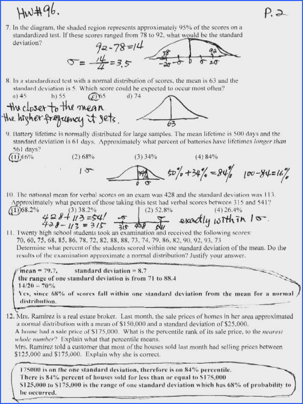 Worksheet Normal Distribution Worksheets