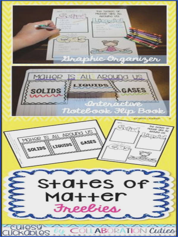 States of Matter Freebies Graphic Organizer and Flip Book for your states of matter unit