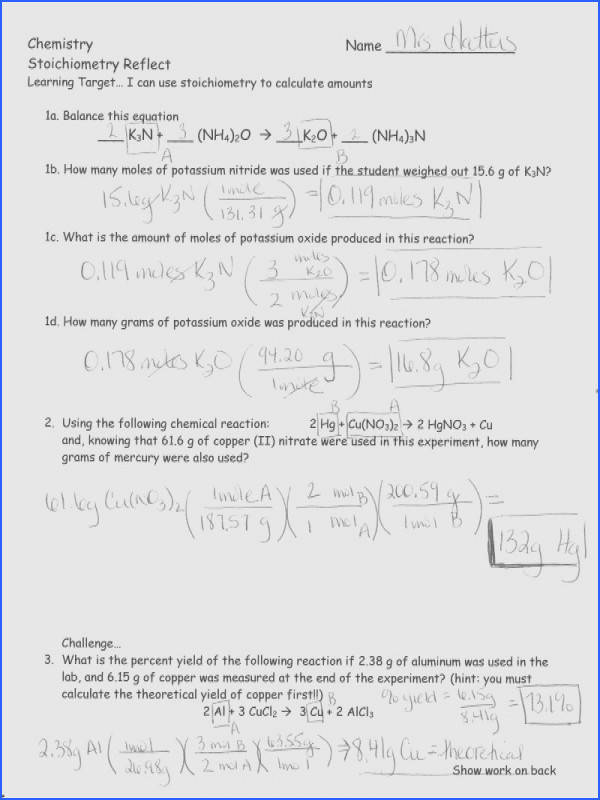 Stoichiometry Practice Problems Worksheet Source · Stoichiometry Problems Worksheet Homeoutsidethebox