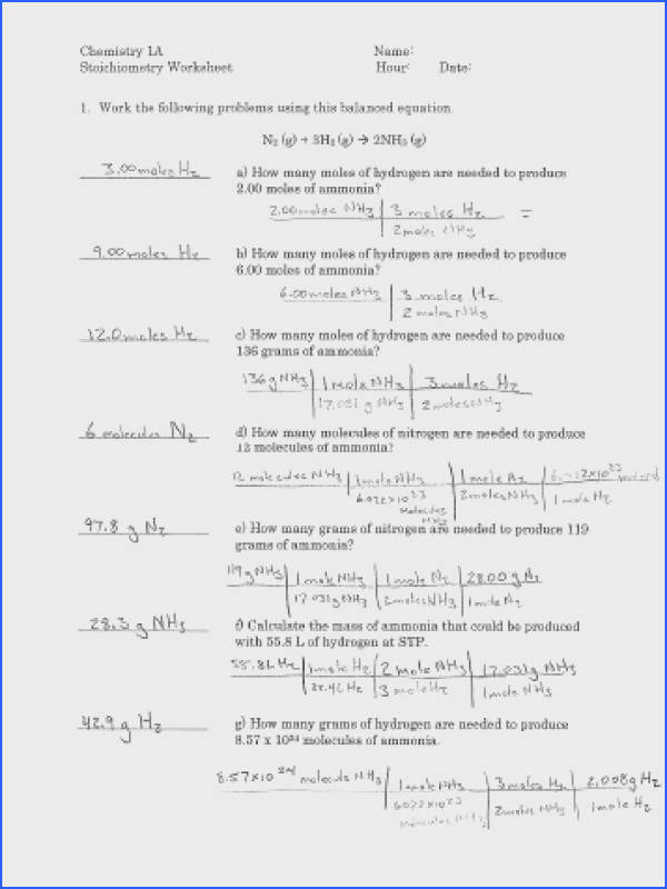 stoichiometry worksheet answers to her with honors gas law homework answers awesome gas stoichiometry problems worksheet answers