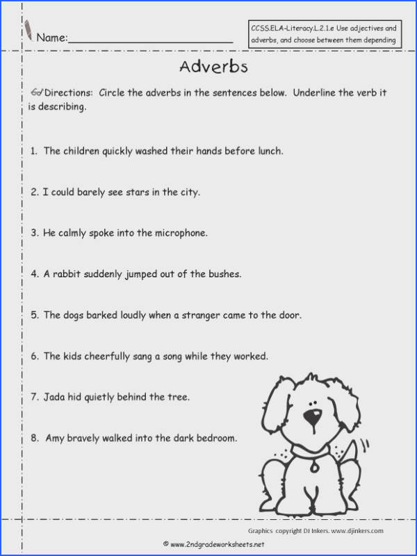 free using adjectives and adverbs worksheets worksheet 7th an image part of stress management worksheets