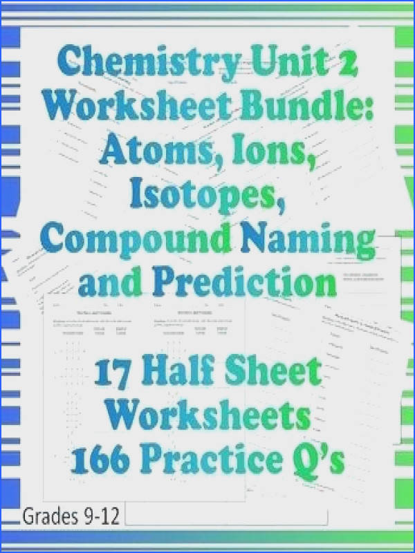 isotopes and ions worksheet as well as chem unit 2 worksheet bundle atoms ions isotopes po