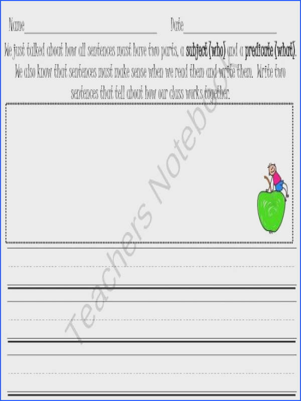 Subject and Predicate Worksheet product from First Grade Joy on TeachersNotebook