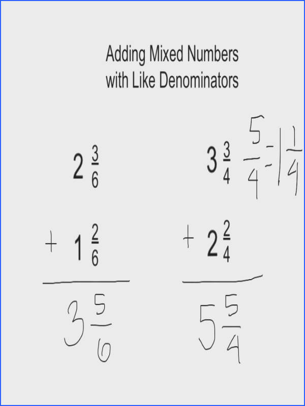 Subtract Mixed Numbers Wlike Denominators Youtube Math Adding And Subtracting Fractions Worksheets Different Worksheet Tes Integer