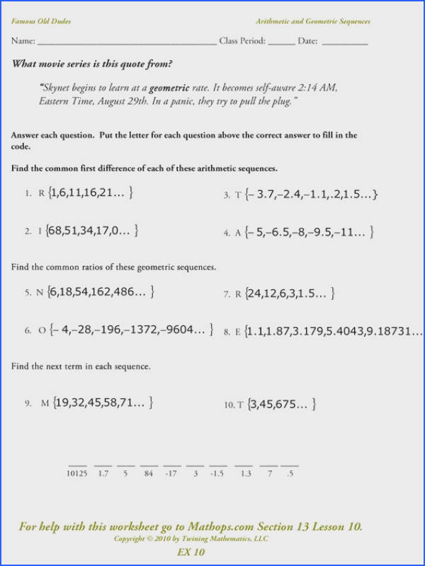 Sum Of Infinite Geometric Sequence Worksheet Infiniti Car