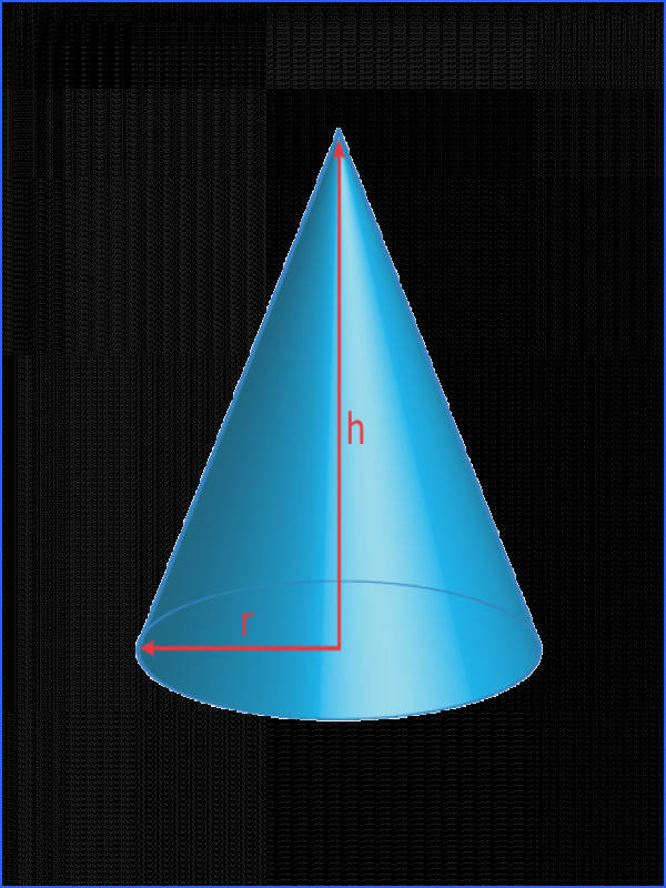 Get Formulas for Surface Area and Volume of Shapes Cone Surface Area and Volume Formulas