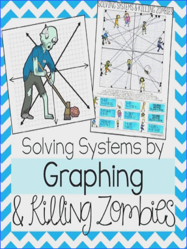 This Zombie themed graphing Systems of Equations activity will strengthen your students skills in solving Systems