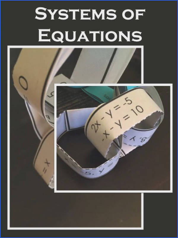 Students literally build a chain of systems of equations for a little practice Way more