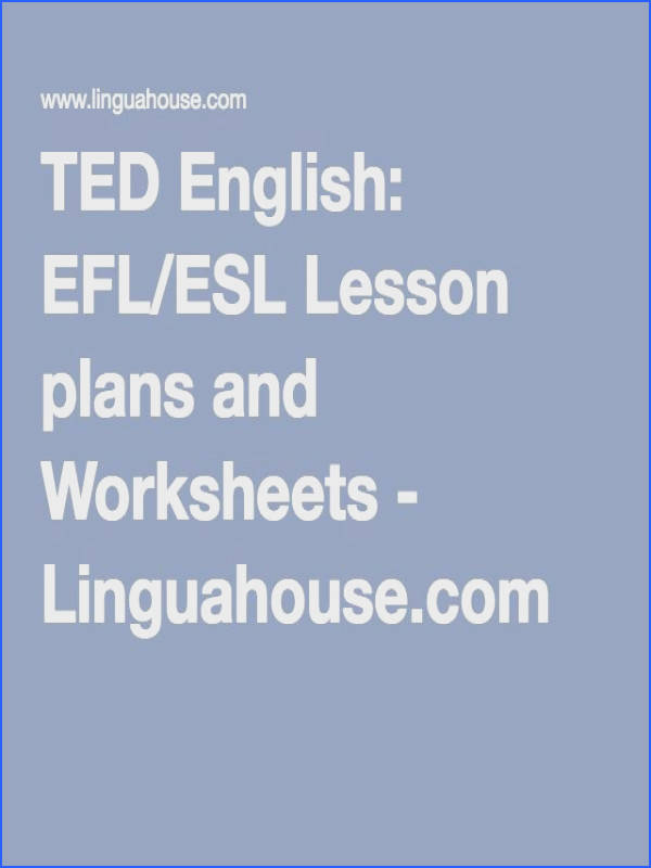 TED English EFL ESL Lesson plans and Worksheets Linguahouse