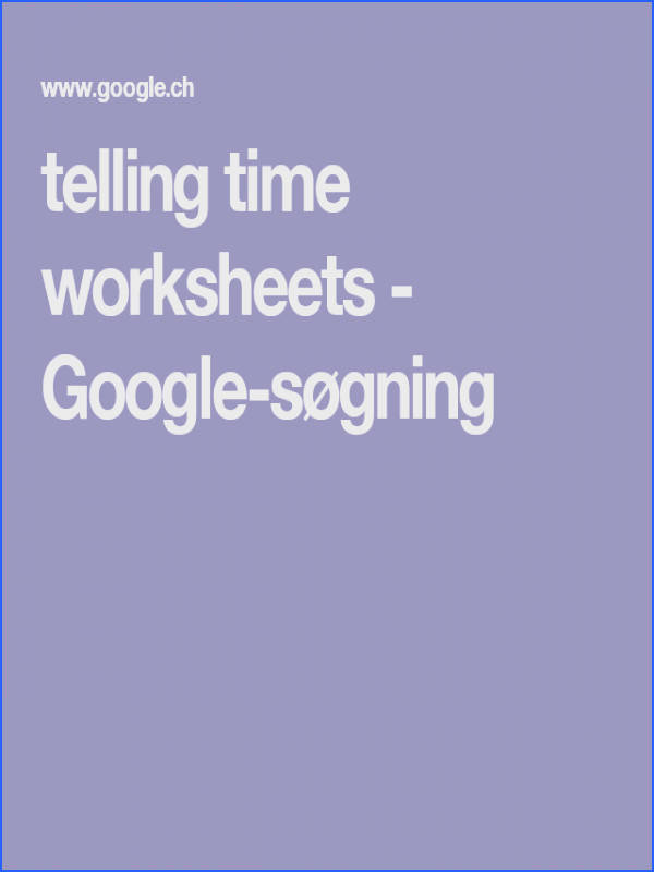 telling time worksheets Google s¸gning