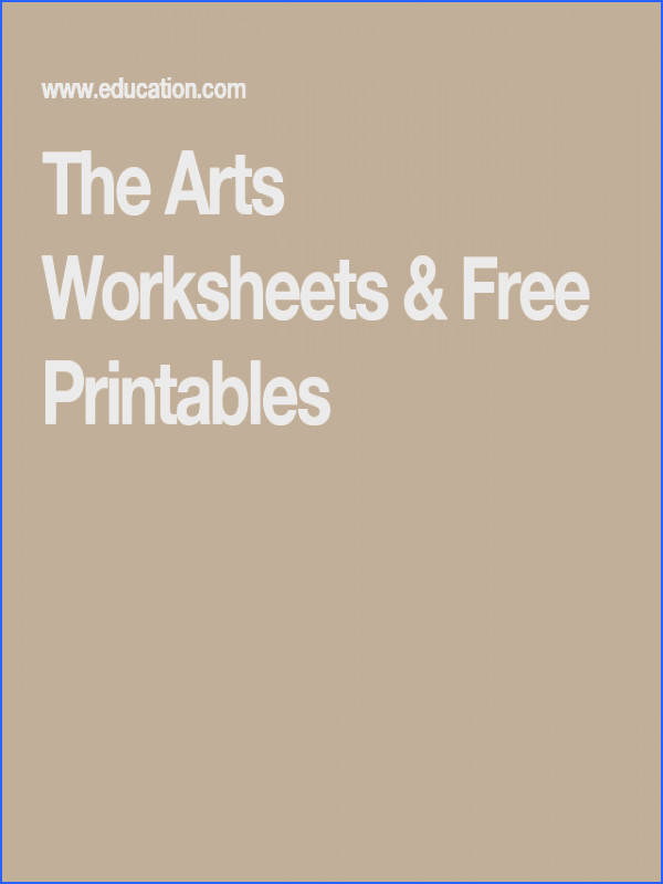 The Arts Worksheets & Free Printables