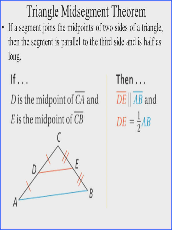 2 Triangle Midsegment Theorem