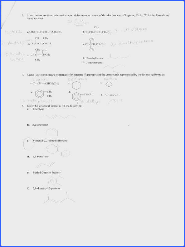 The plete Organic Chemistry Worksheet Answers Worksheets for all Download and Worksheets