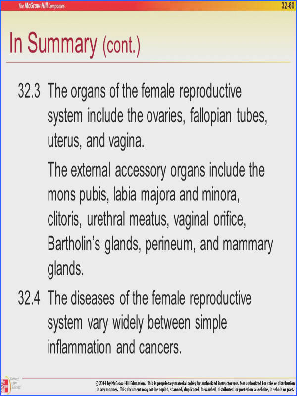 32 3 The organs of the female reproductive system include the