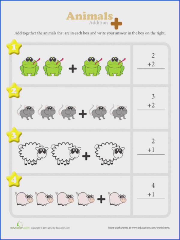 These colorful worksheets are a great way for kindergarteners to visualize addition They to