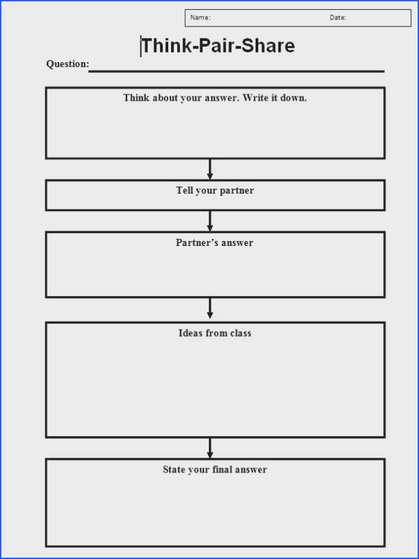 think pair share worksheet Google Search