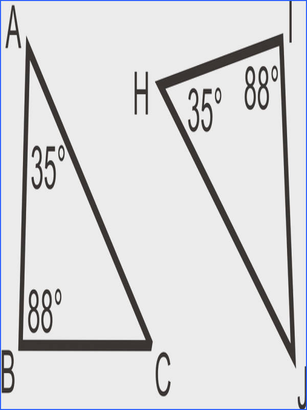 The sum of the angles in each triangle is