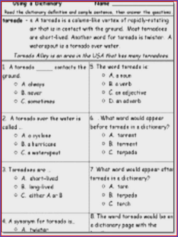 3rd Grade Reading prehension Worksheets Multiple Choice