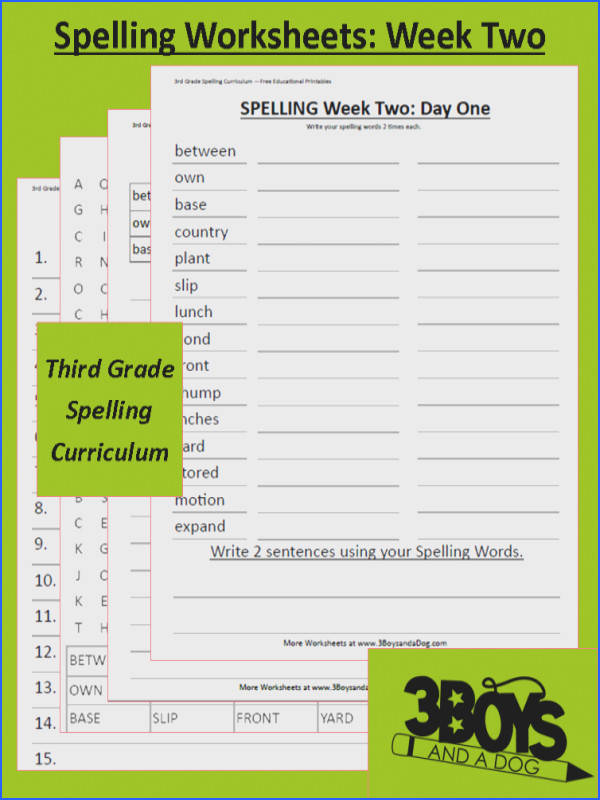 Grade Three Spelling Curriculum Week Two These spelling activities can be used for homeschooling or