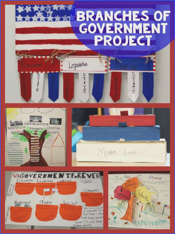 This 3 branches of government project helps make government relevant to elementary aged students
